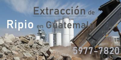 Extracción de Ripio en Guatemala