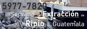 Servicios de Extracción de Ripio en Guatemala