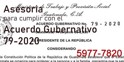 AsesorÍa para cumplir Acuerdo 79-2020